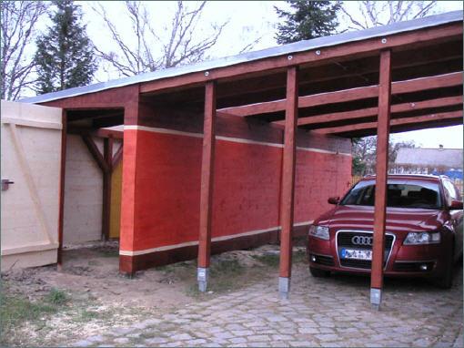 carport mit schuppen und eingangs berdachung. Black Bedroom Furniture Sets. Home Design Ideas
