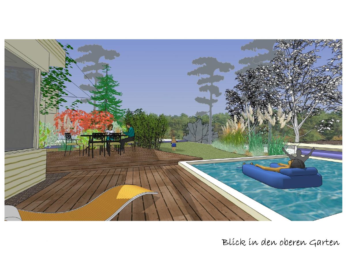 gartenkonzept mit pool sauna und carport. Black Bedroom Furniture Sets. Home Design Ideas